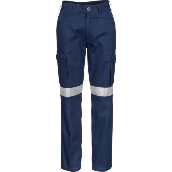 3323 - Ladies Cotton Drill Cargo Pants with 3M Reflective Tape