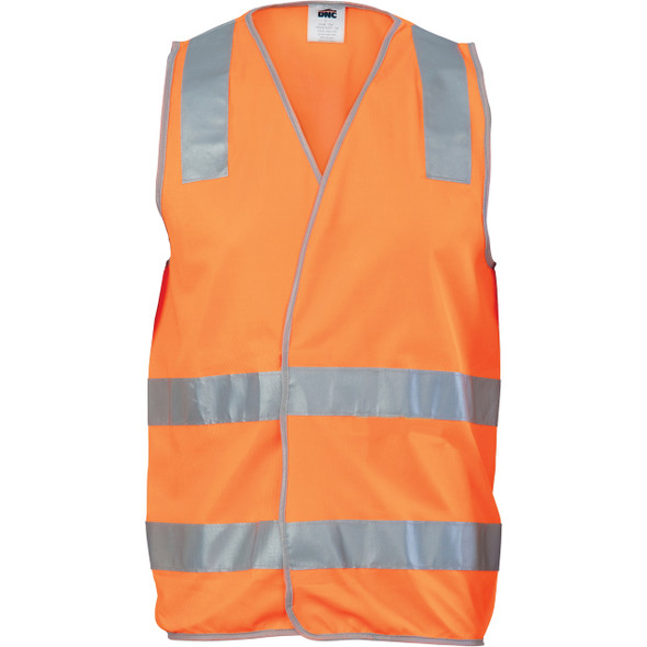 3503 - Day/Night Safety Vest with Hoop & Shoulder Generic R/Tape