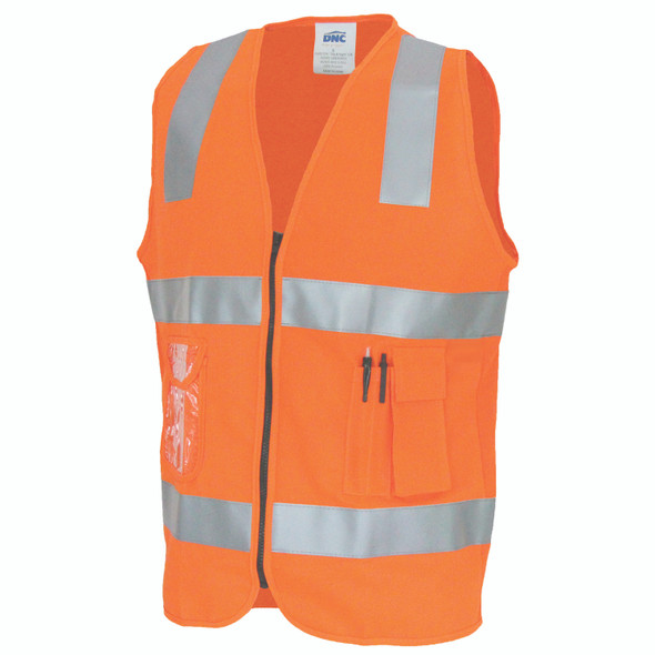3507 Day/Night Side Panel Safety Vest with Generic R/Tape
