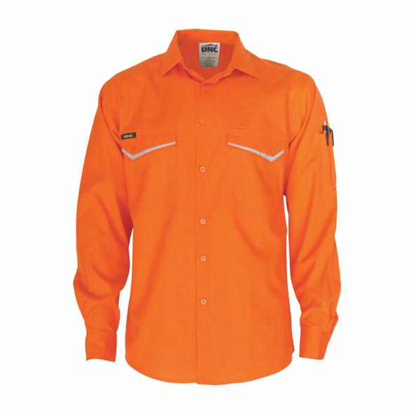 3584 - HiVis RipStop Cotton Cool Shirt, L/S