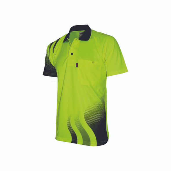 3563 - Wave Hi-Vis Sublimated Polo