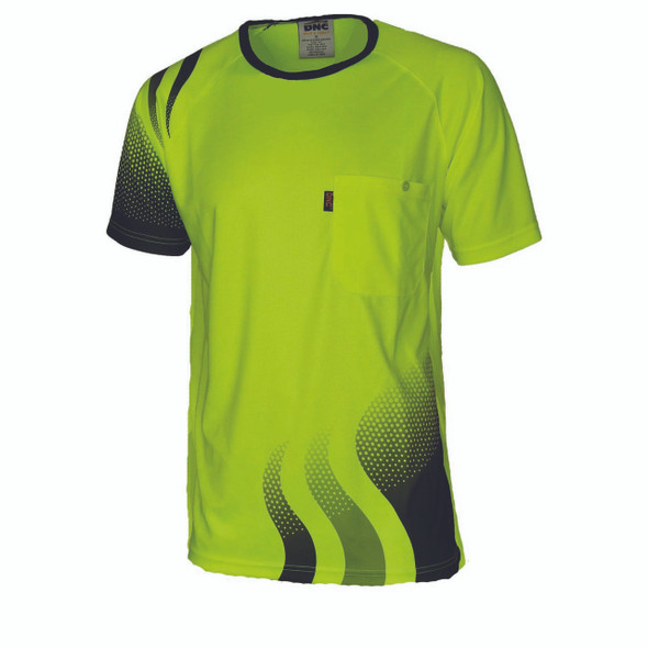 3562 - Wave Hivis Sublimated Tee