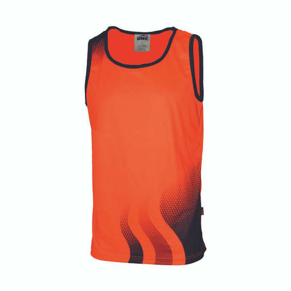 3561 - Wave Hivis Sublimated Singlet