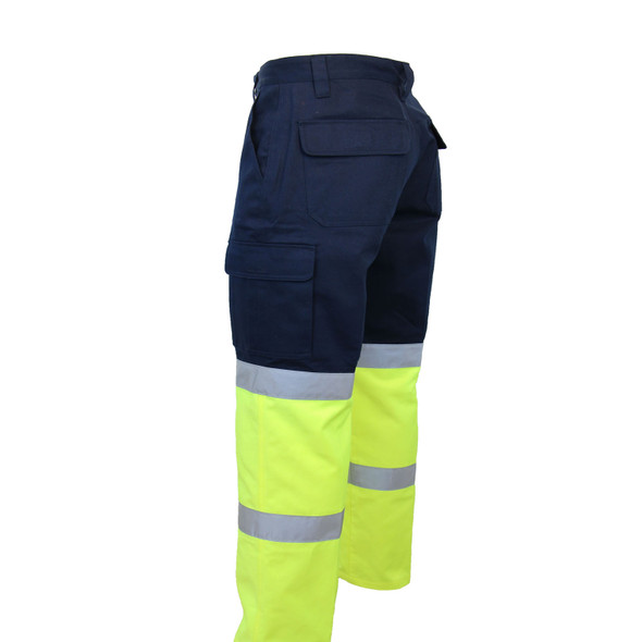 Navy/Hi Vis Yellow Back