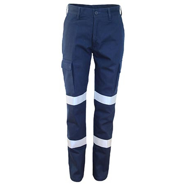 Navy - 3330 Ladies Double Hoops Taped Cargo Pants - DNC Workwear