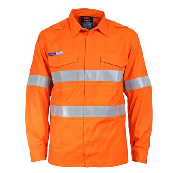 Orange - 3446 Inherent FR PPE1 L/W D/N Shirt - DNC Workwear
