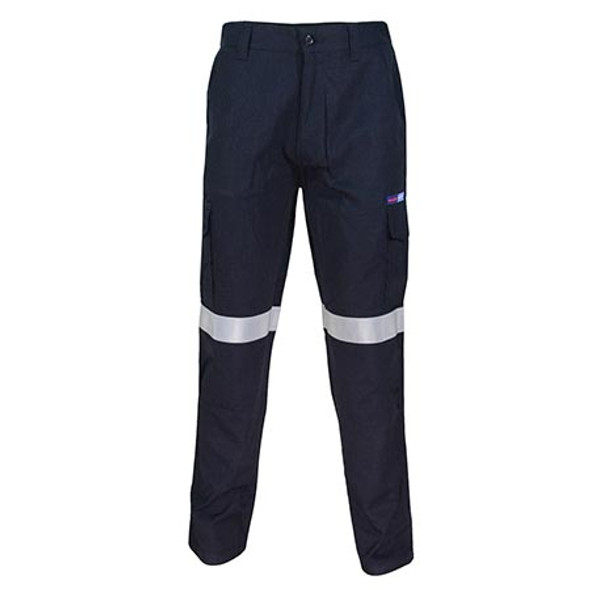 Navy - 3474 Inherent FR PPE2 Taped Cargo Pants - DNC Workwear