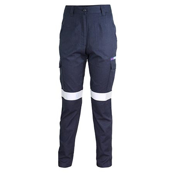 Navy - 3475 Ladies Inherent FR PPE2 Taped Cargo Pants - DNC Workwear
