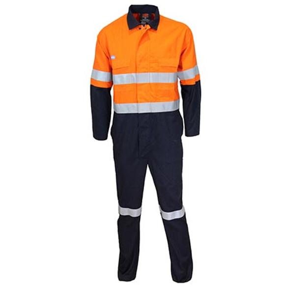 Orange-Navy - 3481 Inherent FR PPE2 2-Tone D/N Coveralls - DNC Workwear