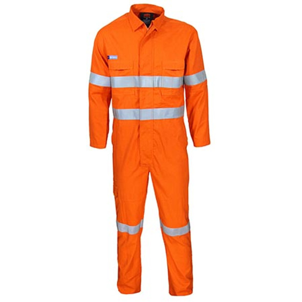 Orange - 3482 Inherent FR PPE2 D/N Coveralls - DNC Workwear