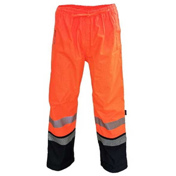 Orange-Navy - 3472 HiVis FR and HRC2 D/N Rain Pants - DNC Workwear
