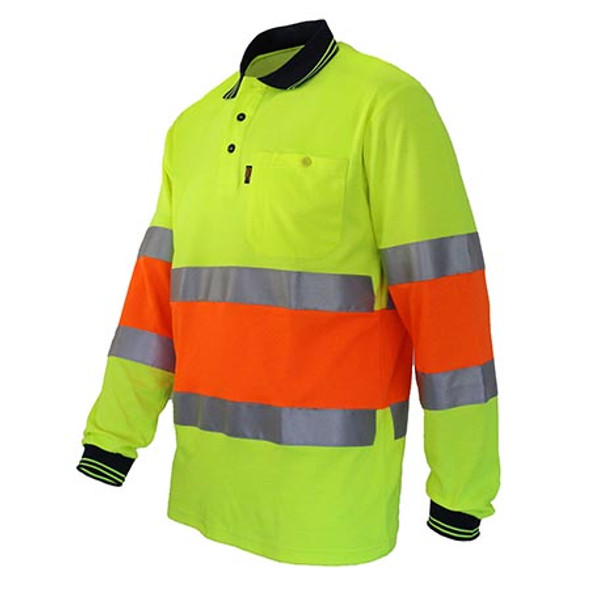 3709 Hi-Vis Cool-dry 2T Bio-motion D/N Polo - DNC Workwear