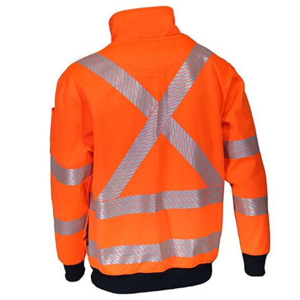 3533 HiVis Segmented Tape X Back 1/2 Zip Jumper - DNC Workwear