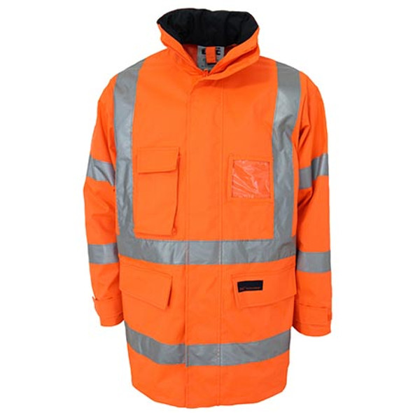 Orange - 3961 HiVis H pattern Biomotion tape jacket - DNC Workwear