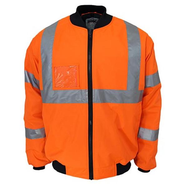 Orange - 3763 HiVis X back flying jacket Biomotion tape - DNC Workwear