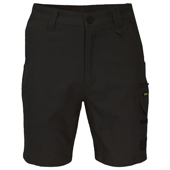 Black - 3373 SlimFlex Tradie Cargo Shorts - DNC Workwear