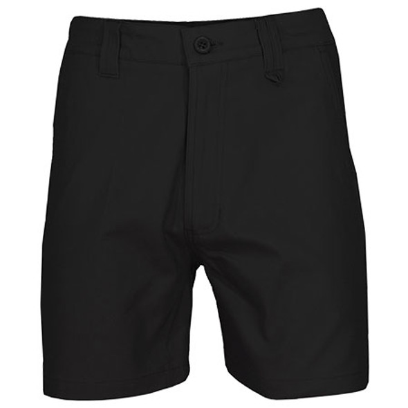 Black - 3374 SlimFlex Tradie Shorts - DNC Workwear