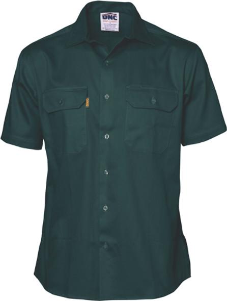 3201 - Cotton Drill Work Shirt - Short Sleeve