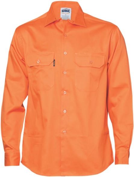 3202 - Cotton Drill Work Shirt - Long Sleeve