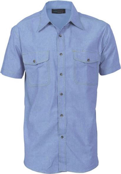 4103 - 155gsm Cotton Chambray Shirt, S/S