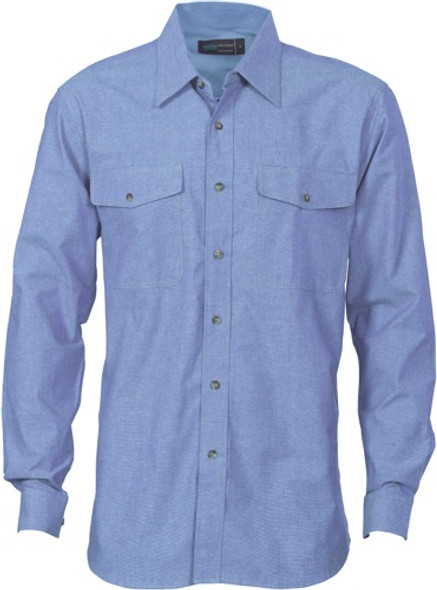 4104 - 155gsm Cotton Chambray Shirt, L/S