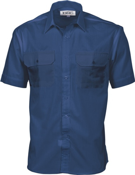 3211 - Polyester Cotton Work Shirt - Short Sleeve