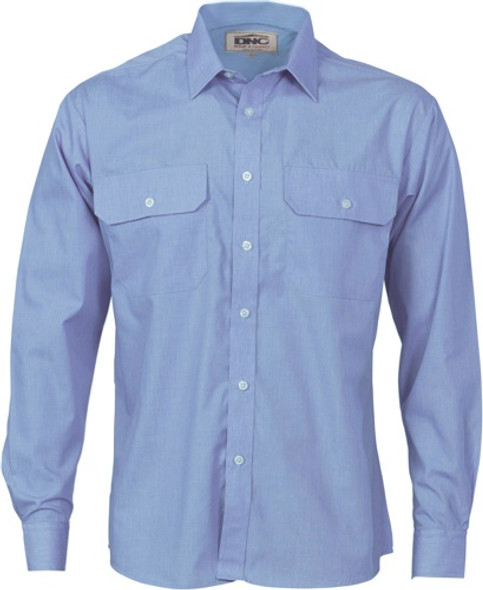 3212 - Polyester Cotton Work Shirt - Long Sleeve