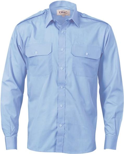 3214 - Epaulette Polyester/Cotton Work Shirt - Long Sleeve