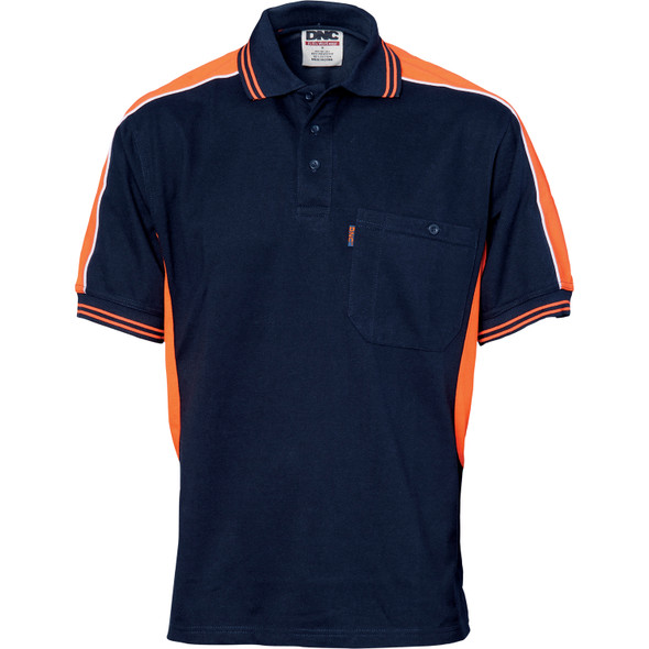 5214 - Polyester Cotton Panel Polo Shirt - Short Sleeve