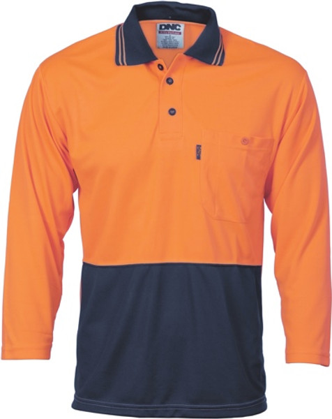 3812 - 175gsm Cool Breathe Polo, 3/4 Sleeve