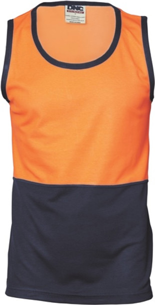 3841 - 185gsm Cotton Back Two Tone Singlet