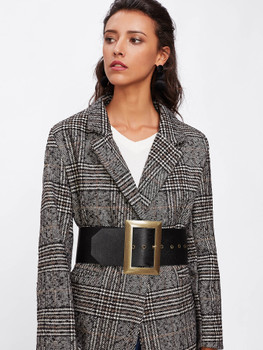 Oversized Square Buckle Belt A4936