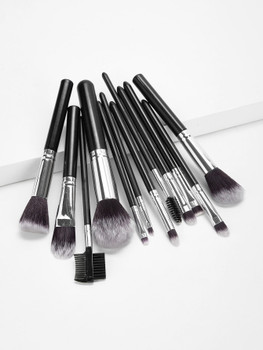 Two Tone Handle Makeup Brush With Case 13pcs A3942