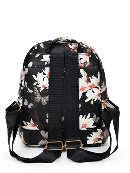 Vintage Flower Print Backpack A7077