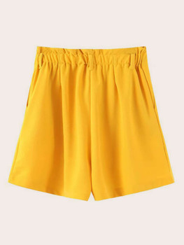 Zip Waist Wide Leg Pocket Side Shorts A6425