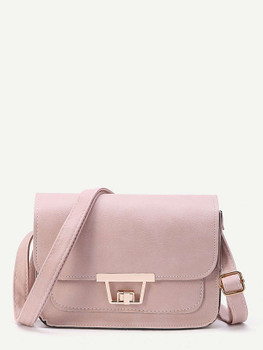 Twist Lock Flap Crossbody Bag  	A295