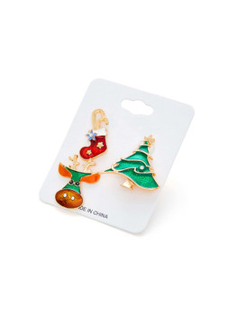 Christmas Tree & Sock Design Brooch SetA9