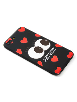 Eye & Heart Pattern iPhone CaseA266