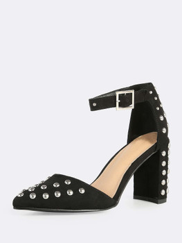 Studded Point Toe Heels BLACKA355
