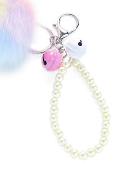 Pom Pom & Beaded Design Keychain A101