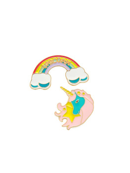 Rainbow & Unicorn Design Brooch Set A7