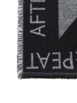 Frayed Trim Letter Tape Scarf A107