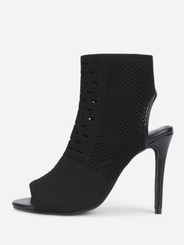 Peep Toe Stiletto Heeled Ankle Boots A142