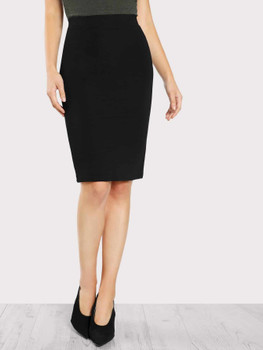 Solid Pencil Skirt A171