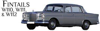Classic Mercedes-Benz Fintails W110 W111 W112 Parts