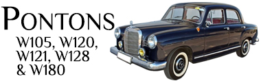 Classic Mercedes-Benz Ponton Parts