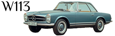 Classic Mercedes-Benz W113 SL Pagoda Parts