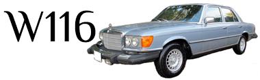 Classic Mercedes-Benz W116 Parts S-Class
