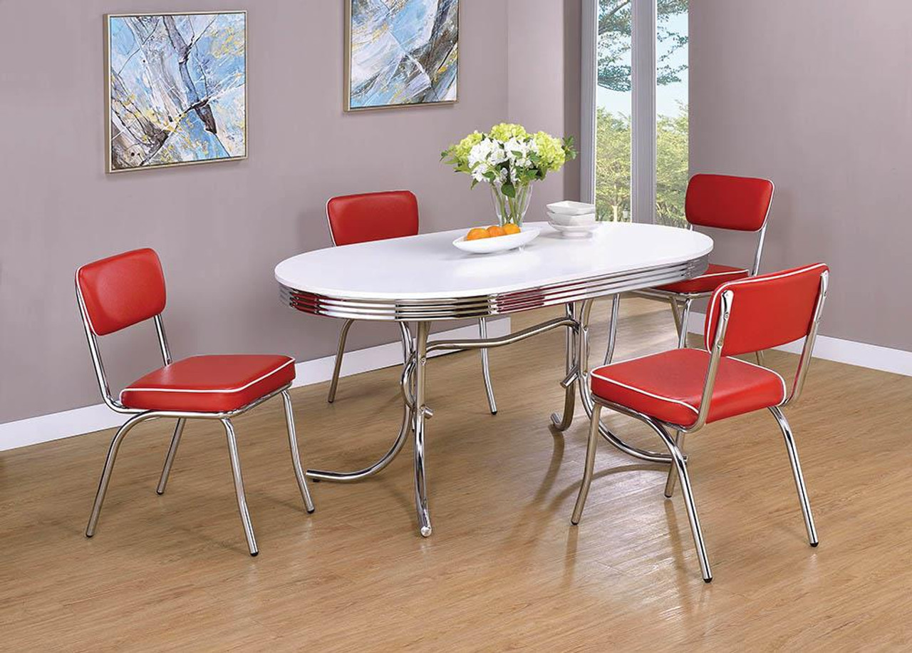 Coaster Retro Collection   Red   Retro Open Back Side Chairs Red ...