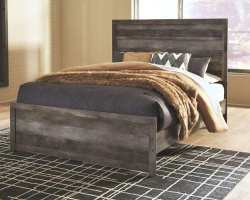 Ashley Wynnlow Gray Queen Panel Bed